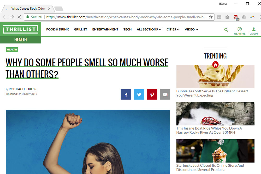 Why do Some People Smell so Much Worse than Others?