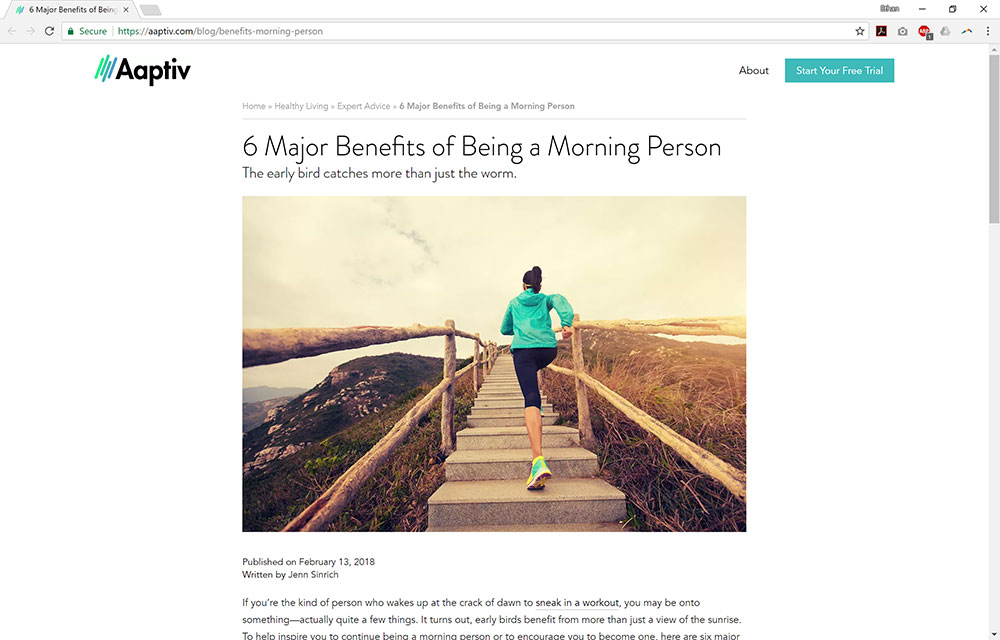 6 Major Benefits of Being a Morning Person