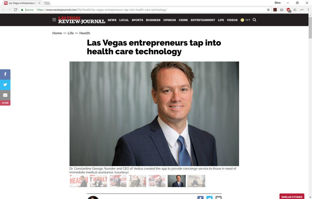 Las Vegas Entrepreneurs Tap into Health Care Technology