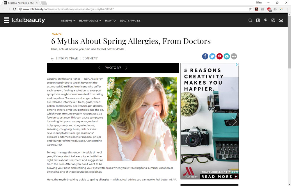 6 Myths About Spring Allergies, From Doctors