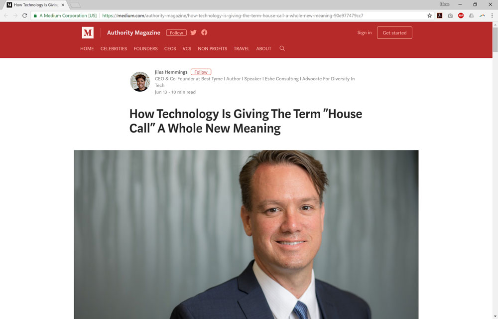 """How Technology Is Giving The Term """"House Call"""" A Whole New Meaning"""