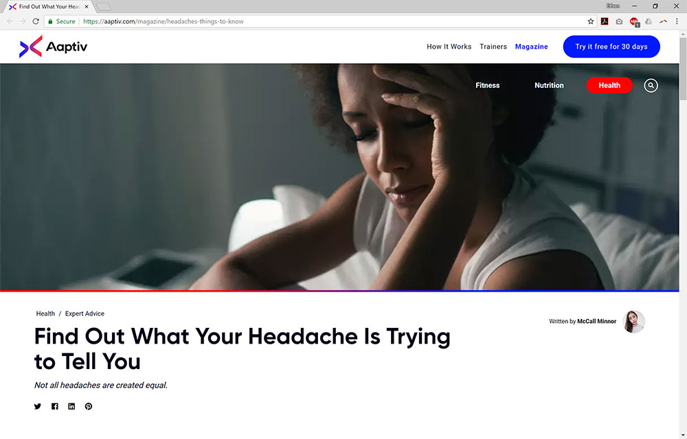 Find Out What Your Headache is Trying to Tell You
