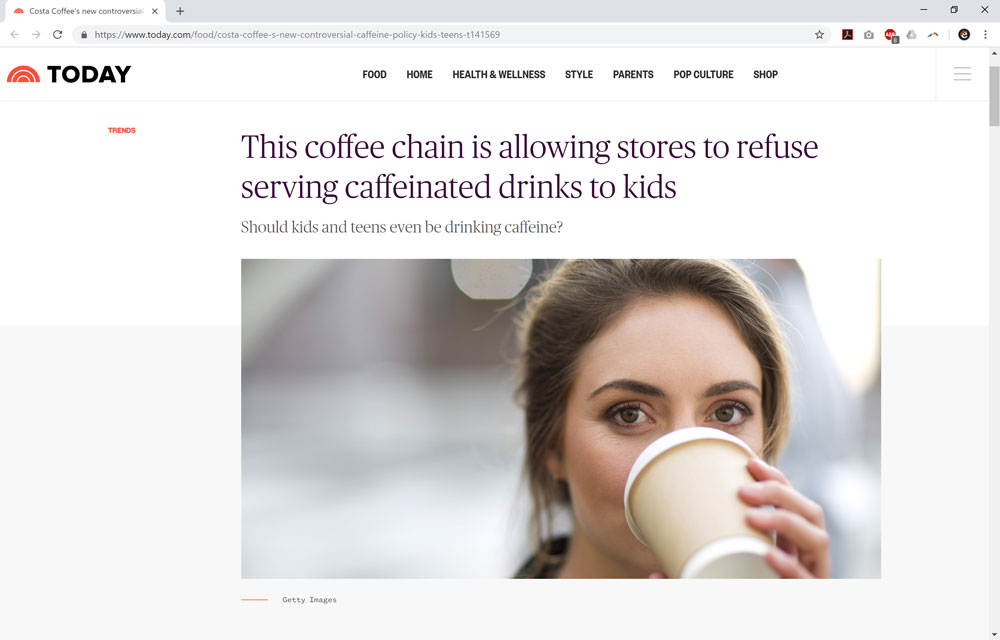 This Coffee Chain is Allowing Stores to Refuse Serving Caffeinated Drinks to Kids