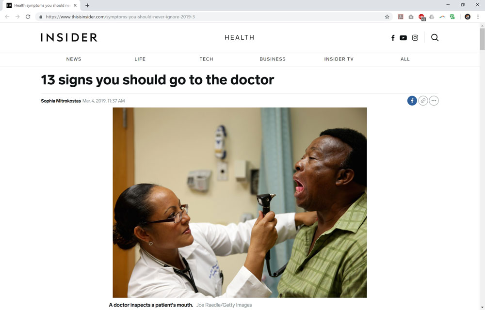13 Signs You Should Go to the Doctor | Epitomedical