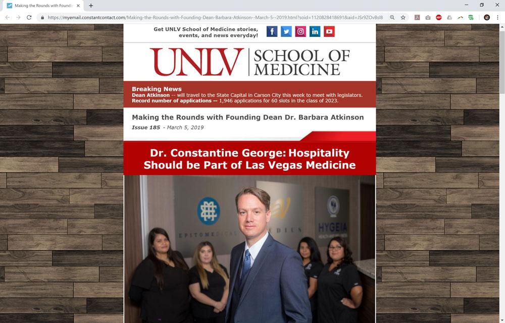 Dr. Constantine George: Hospitality Should be Part of Las Vegas Medicine