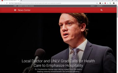 Local Doctor and UNLV Grad Calls for Health Care to Emphasize Hospitality