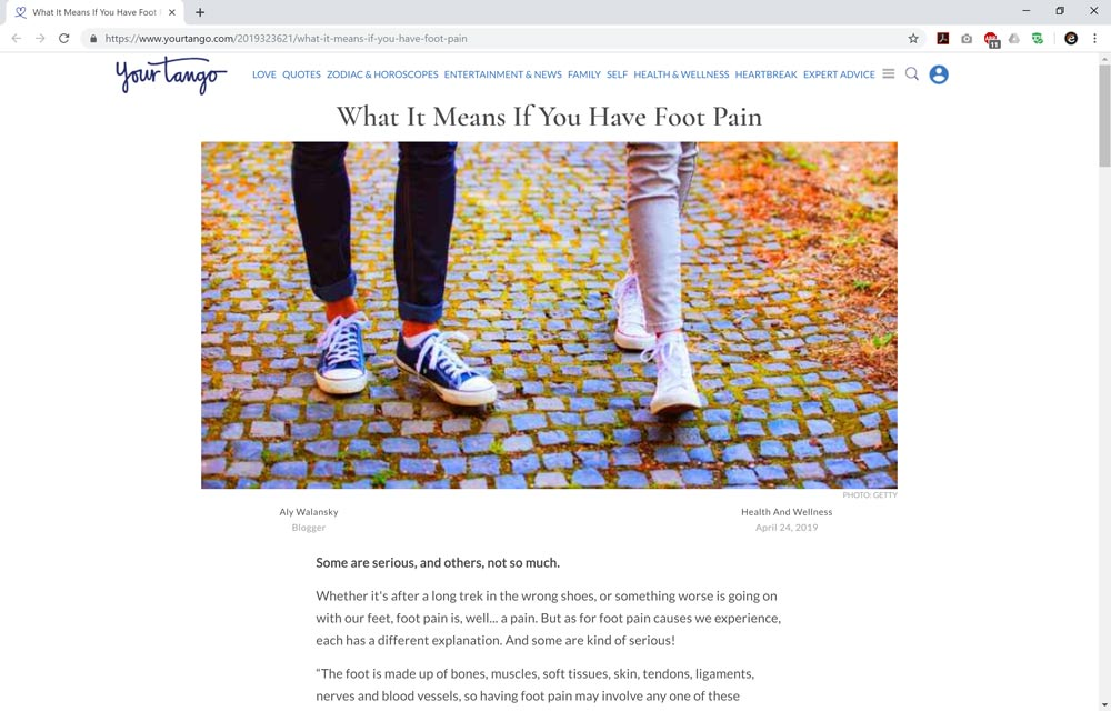 What It Means If You Have Foot Pain