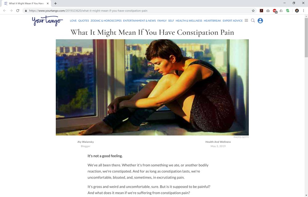What It Might Mean If You Have Constipation Pain
